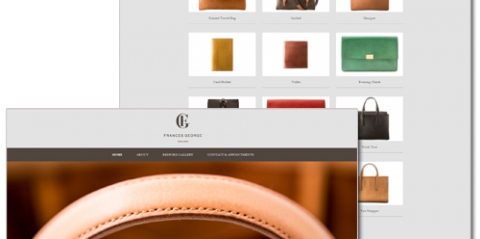 Site for luxury fashion brand Frances George