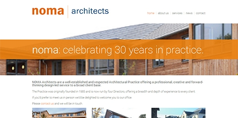 New CMS for Bristol architects noma