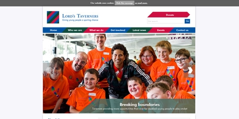 Updated branding on Lords Tavener's website