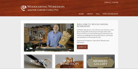 New video subscription website for Woodcarving Workshops