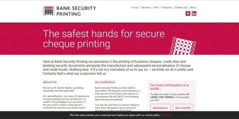 A fresh look for Bank Security Printing