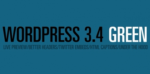WordPress 3.4 GREEN released