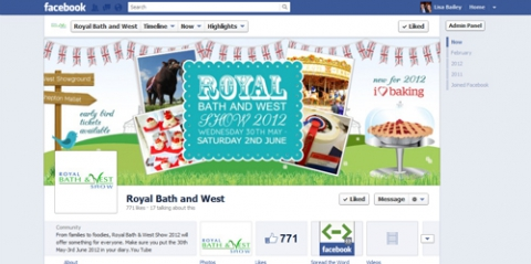 Bath and West Facebook Timeline goes live