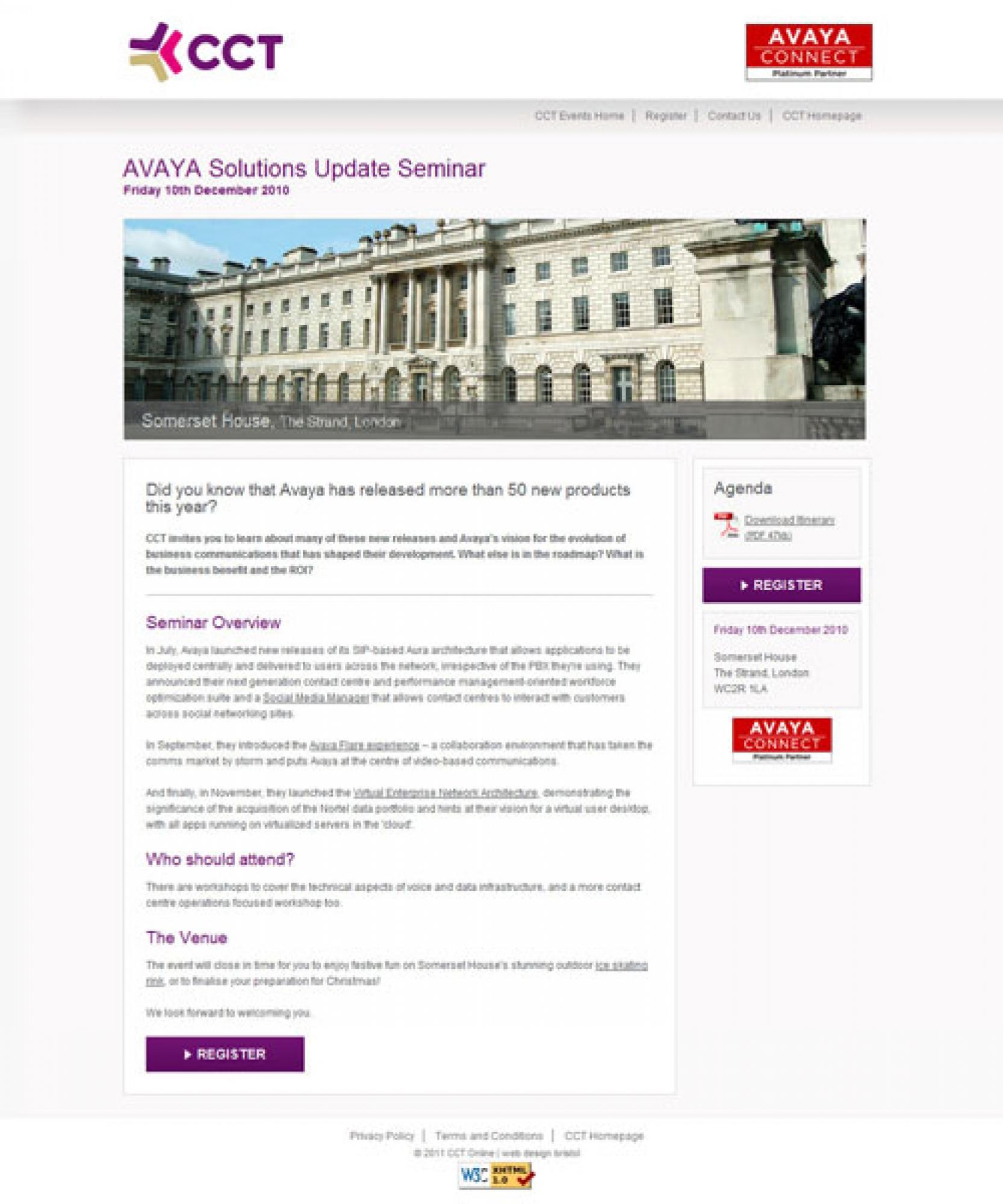 CCT and Avaya Screenshot