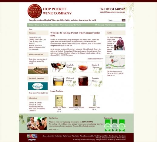 Hop Pocket Wine Company Screenshot